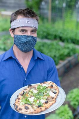 Serving Pizza with Mask
