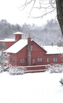 House in the snowy Berkshire hills