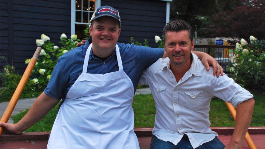Chef Steve Browning and Owner Mark Firth of Prairie Whale